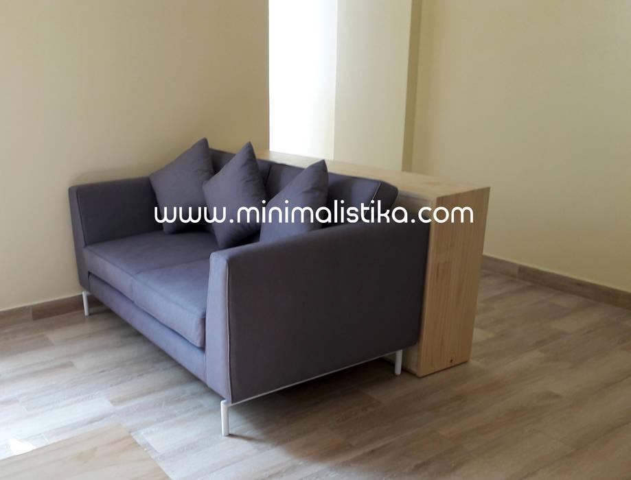 Mobiliario Minimalista Sala Comedor : Salas / recibidores de estilo  por Minimalistika.com