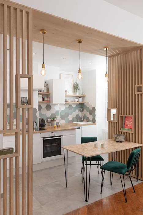 Chez Sophie et Morgan: Cuisine de style  par Camille BASSE, Architecte d'intérieur, Moderne