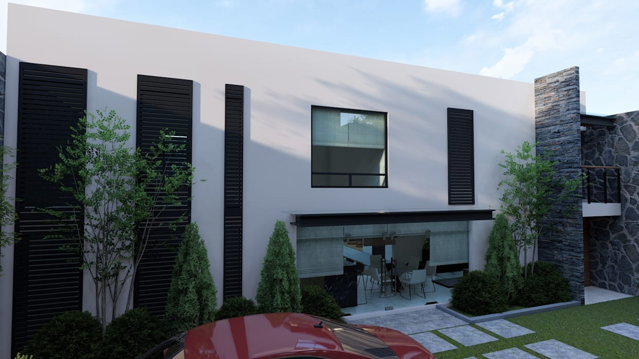 Petites maisons de style  par DISARQ ARQUITECTOS.