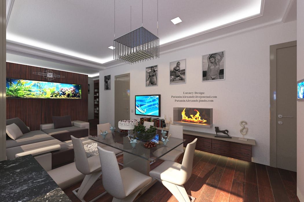 Apartment young girl's. Квартира молодой девушки.: Столовые комнаты в . Автор – Patanin Luxury Design, Минимализм