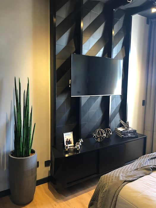 Guaraúna Revestimentos BedroomAccessories & decoration Concrete Black