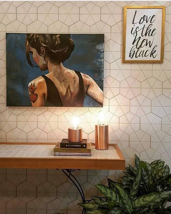 Guaraúna Revestimentos Living roomAccessories & decoration Concrete White