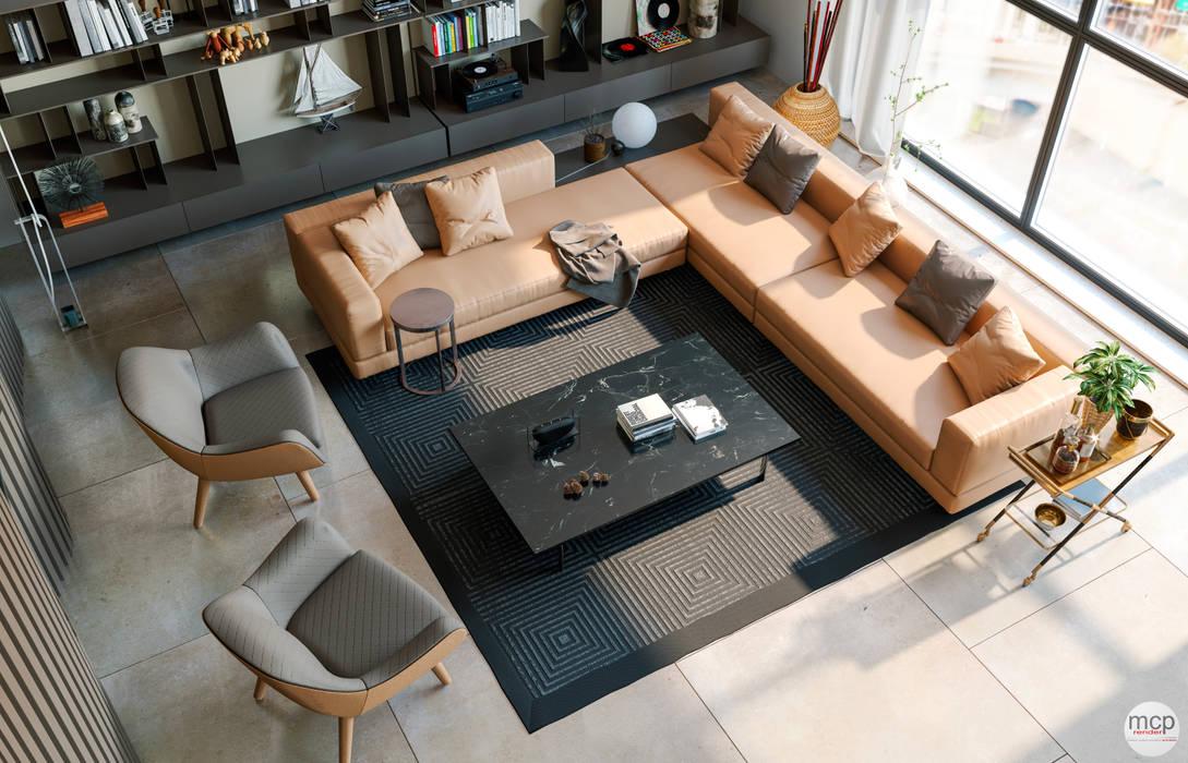 mcp-render Modern Living Room