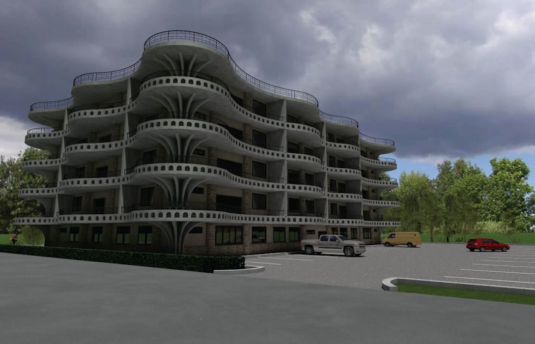 Mixed Use Building Design Dodoma, Tanzania by S3DA Design Modern