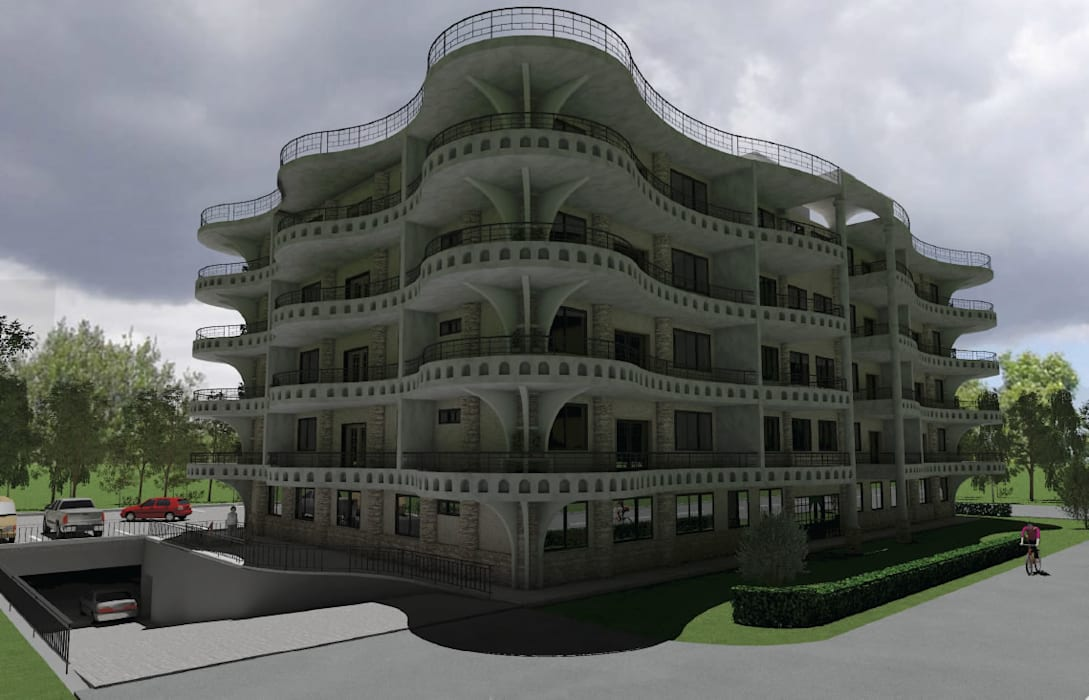 Mixed Use Building Design Dodoma, Tanzania:  Hotels by http://s3da-design.com/