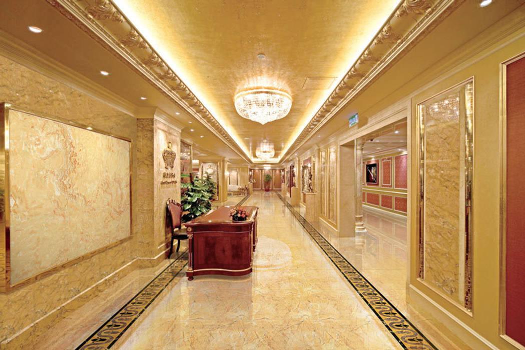2. Dùng tấm ốp vân đá cho không gian khách sạn:  Khách sạn by Công ty TNHH truyền thông nối việt