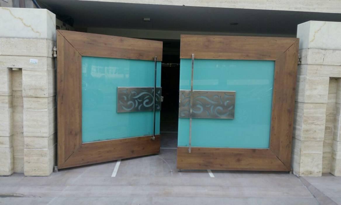 Wooden Exterior Main Gate Design by 360 Home Interior Modern