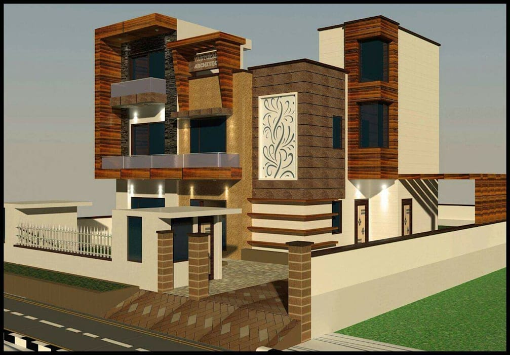 3d Front Elevation Design Bungalows By 360 Home Interior Homify