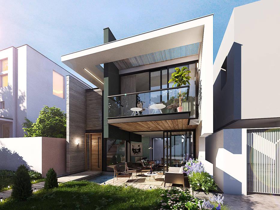 &nbsp: Casas de estilo  por INSPIRA ARQUITECTOS