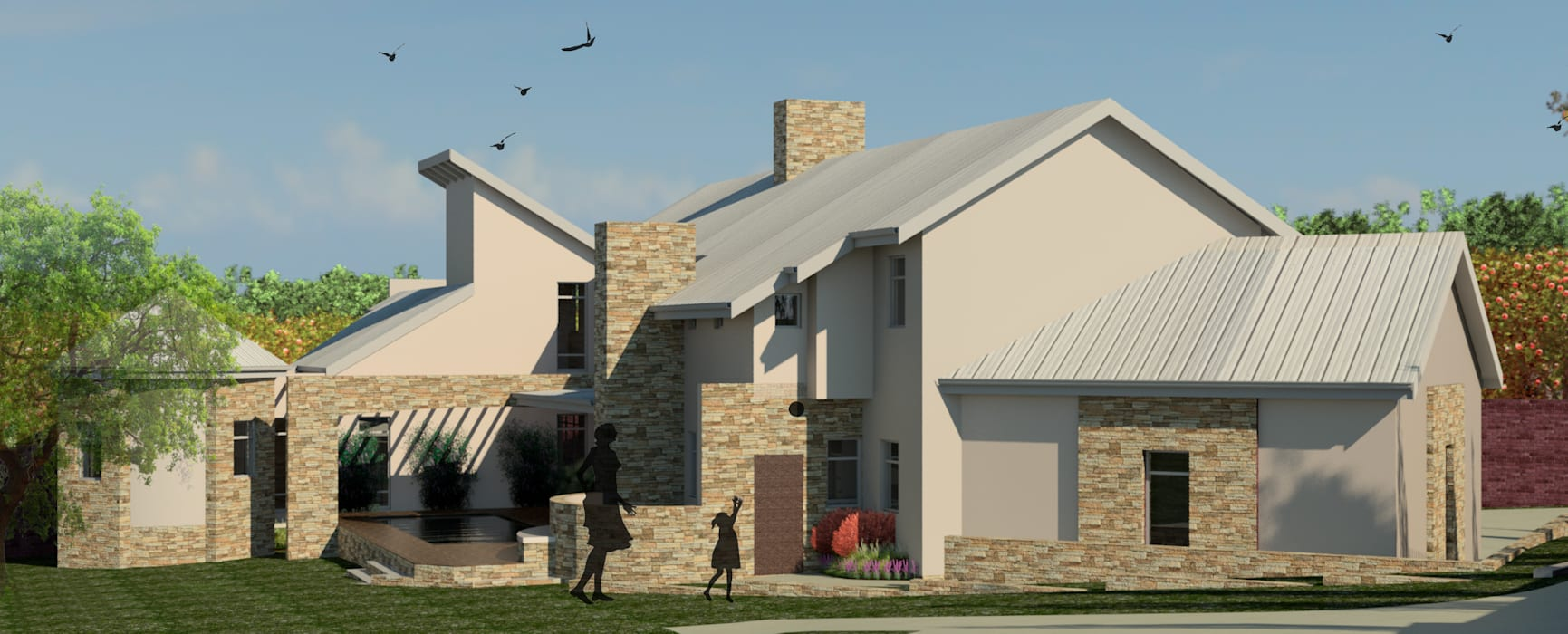 VIEW FROM SOUTH EAST:  Houses by Nuclei Lifestyle Design,