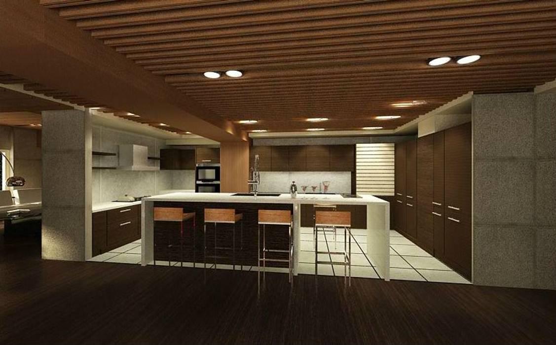 Tủ bếp theo 鼎爵室內裝修設計工程有限公司,