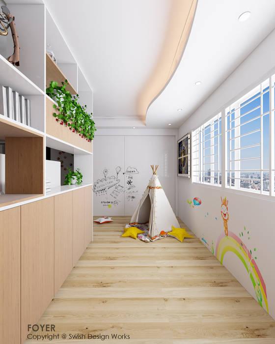 Ang Mo Kio Avenue 10 Scandinavian style corridor, hallway& stairs by Swish Design Works Scandinavian