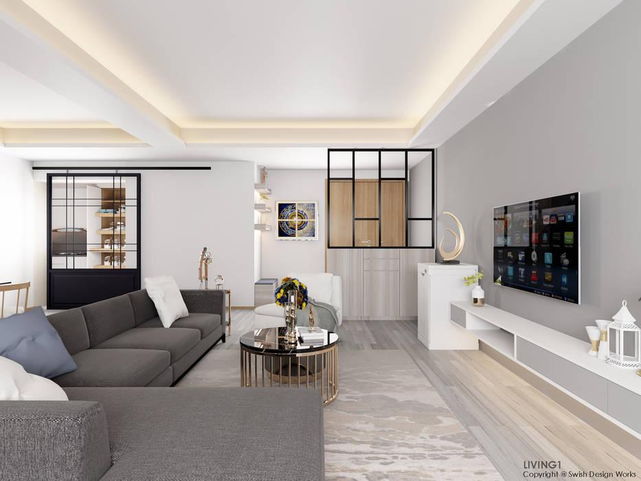 Wohnzimmer von Swish Design Works,