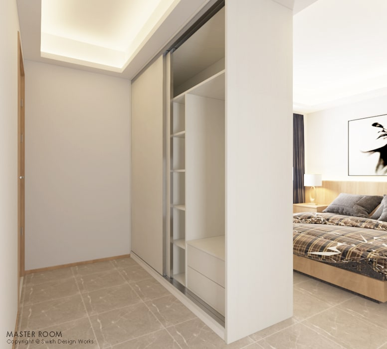 Compassvale Lane:  Small bedroom by Swish Design Works,