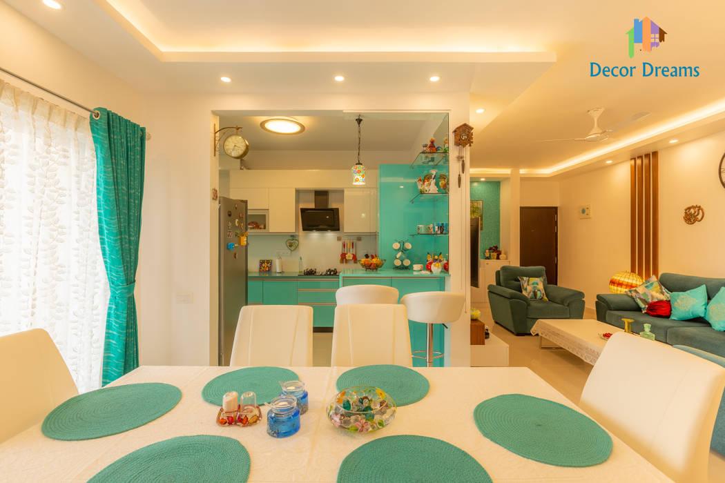Brigade Meadows, 3 BHK—Dr. Usha & Dr. Mohan:  Dining room by DECOR DREAMS,Modern