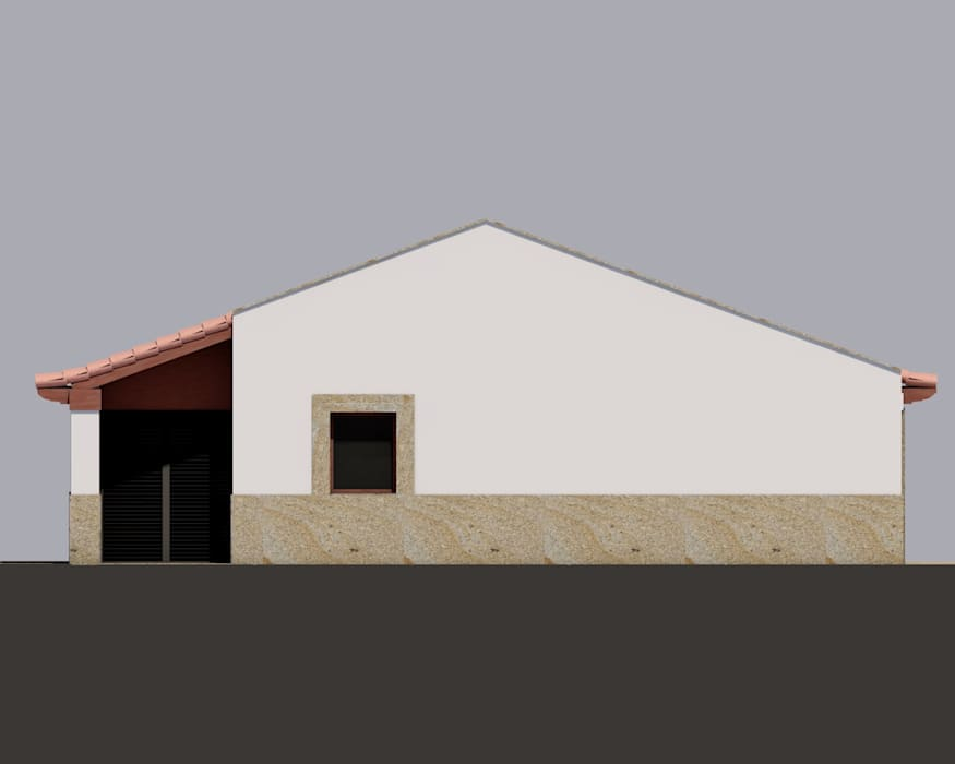 Chalets de estilo  por GomesAmorim Arquitetura, Rústico