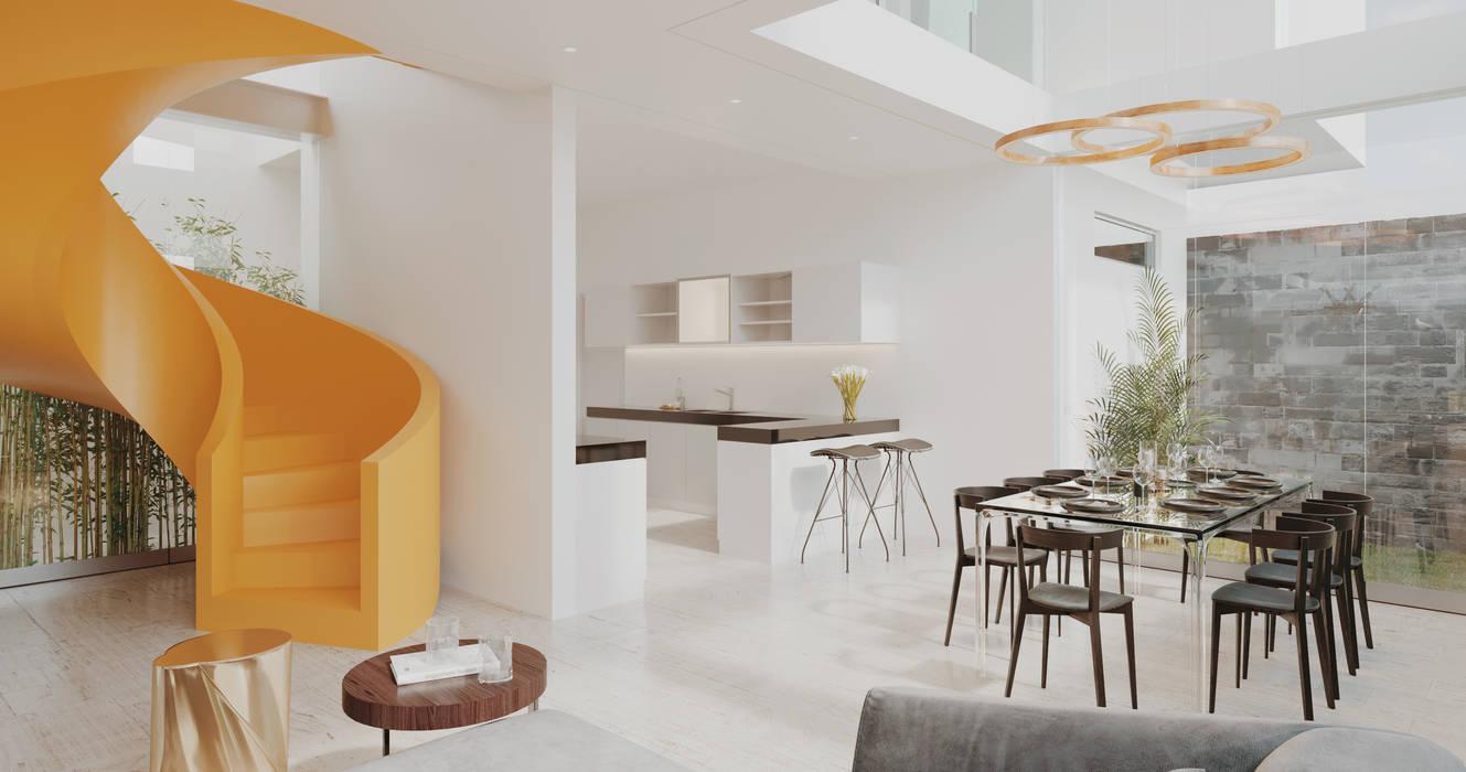 DINNING ROOM de Studio17-Arquitectura Minimalista