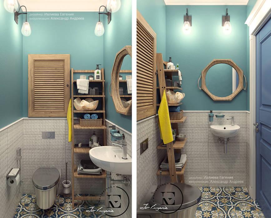 Санузел в скандинавском стиле.: Ванные комнаты в . Автор – IvE-Interior, Скандинавский