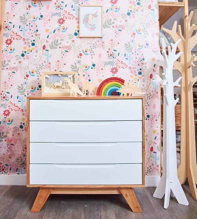 Minihaus Kids ห้องนอนเด็กตู้เสื้อผ้า ไม้ Wood effect