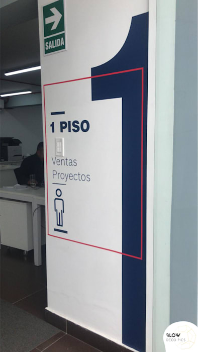 Fábrica Rexroth - Lima, Perú: Paredes de estilo  por Blow Deco Pics , Industrial