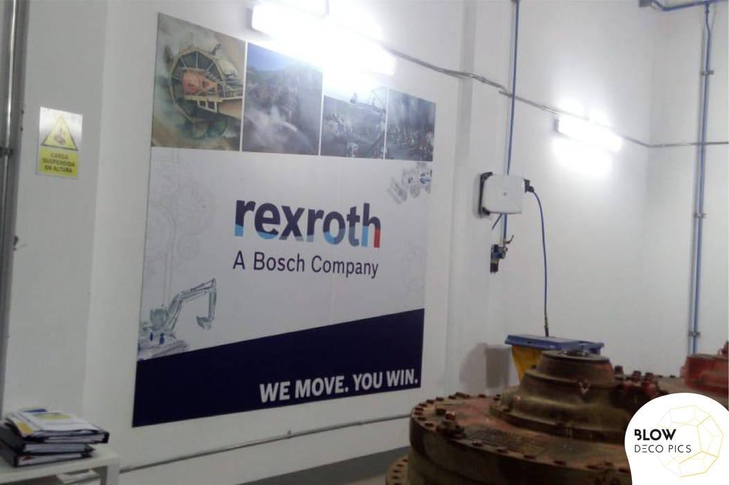 Fábrica Rexroth - Lima, Perú: Paredes de estilo  por Blow Deco Pics