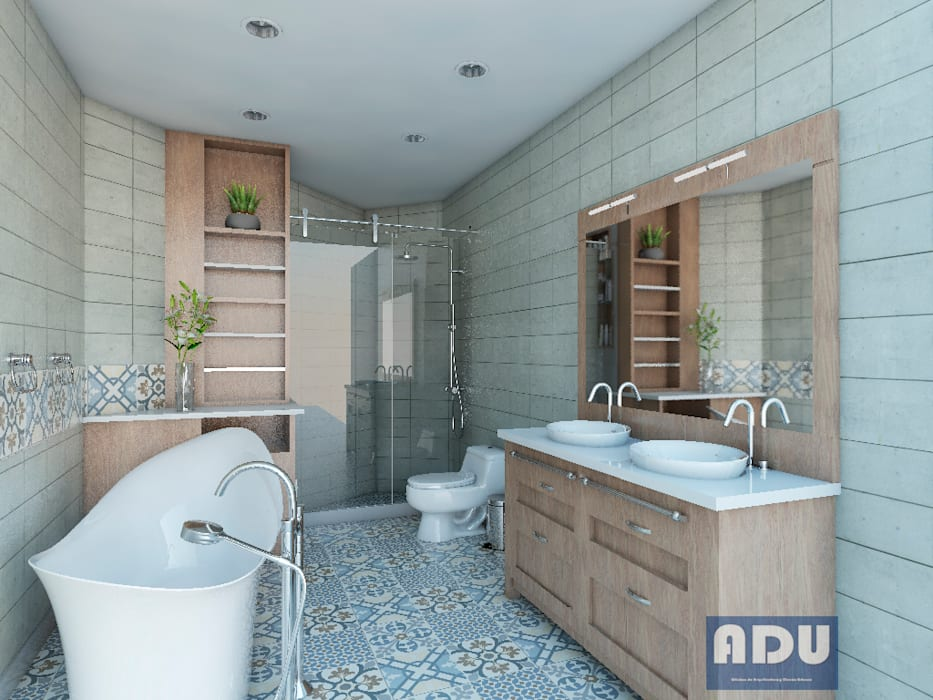 Cuarto de Baño Baños de estilo moderno de ADU ARQUITECTOS Moderno Madera Acabado en madera