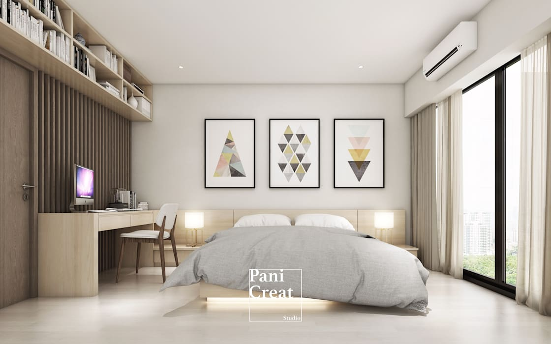 Grand Park View Condo อโศก โดย PANI CREAT STUDIO CO., LTD. มินิมัล