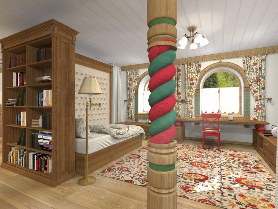 Русский стиль 2 этаж: Детские спальни в . Автор – Архитектурная студия 'Арт-Н',