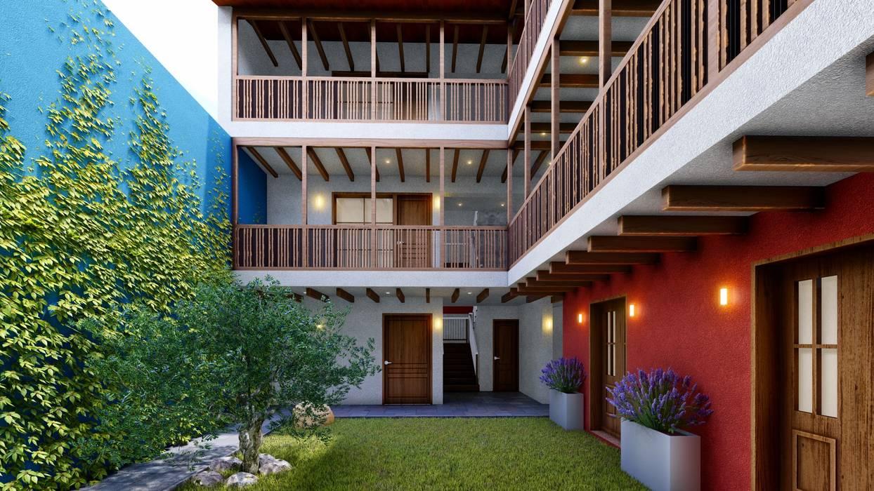 FRANCO CACERES / Arquitectos & Asociadosが手掛けた廊下 & 玄関