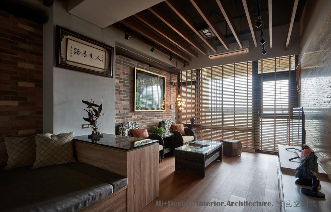 客廳區:  客廳 by Hi+Design/Interior.Architecture. 寰邑空間設計,
