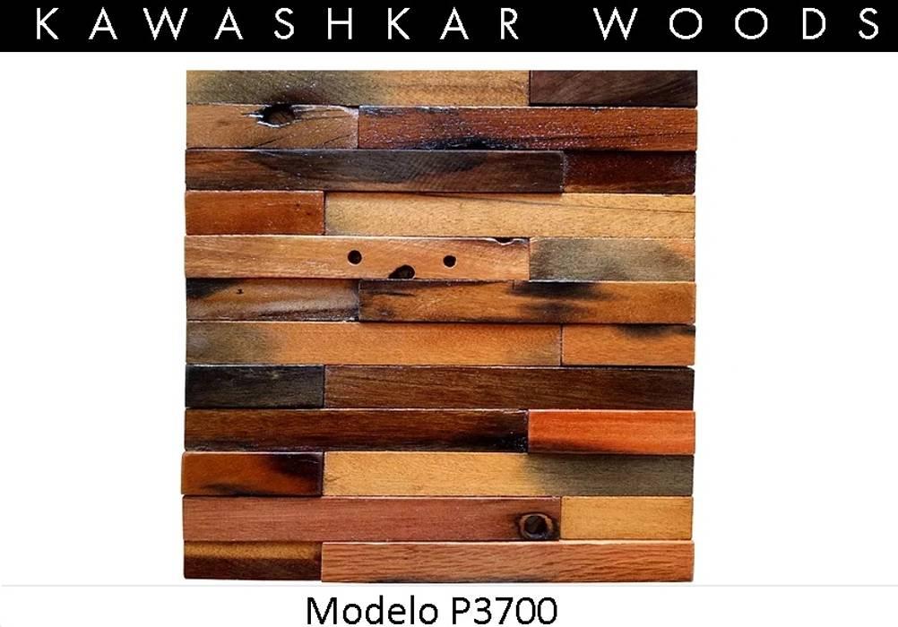 Panel Decorativo de Madera P3700 Paredes y pisos de estilo rústico de Kawashkar Woods Rústico Madera Acabado en madera