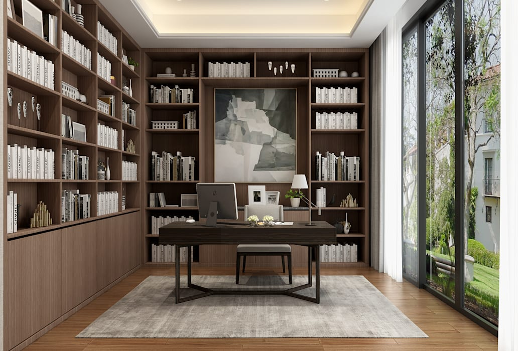 3D示意圖3:  書房/辦公室 by VH INTERIOR DESIGN, 現代風