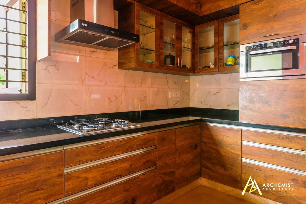 The Habitat:  Kitchen units by Archemist Architects