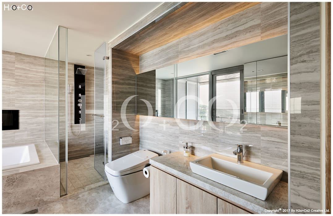 主臥室衛浴 光合作用設計有限公司 現代浴室設計點子、靈感&圖片