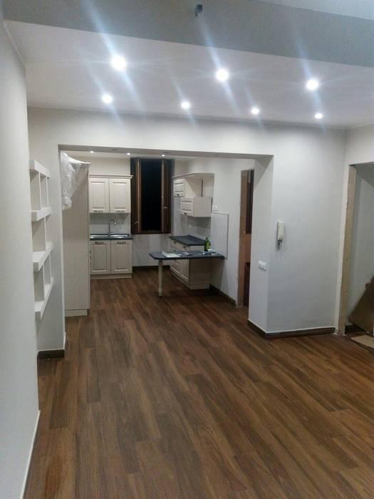 Progettazione di un open space con cucina a vista: soggiorno ...