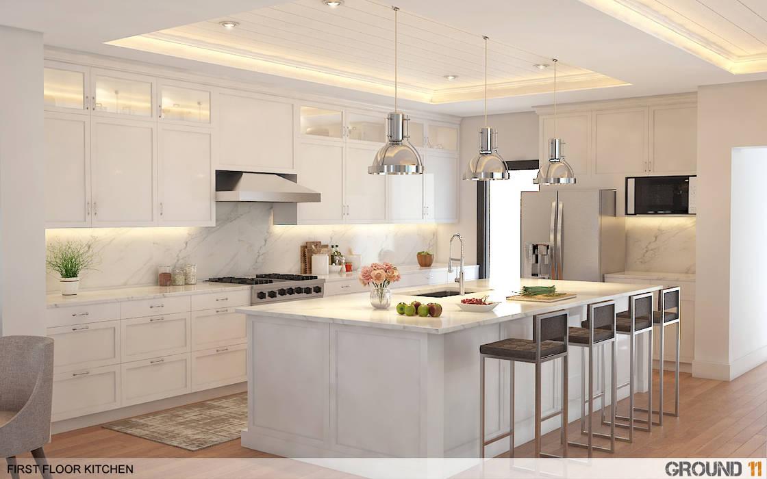 Minimalist kitchen by Ground 11 Architects Minimalist