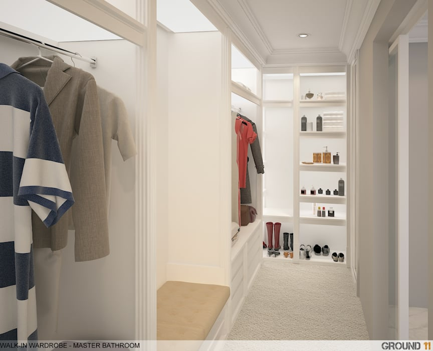 Modern dressing room by Ground 11 Architects Modern