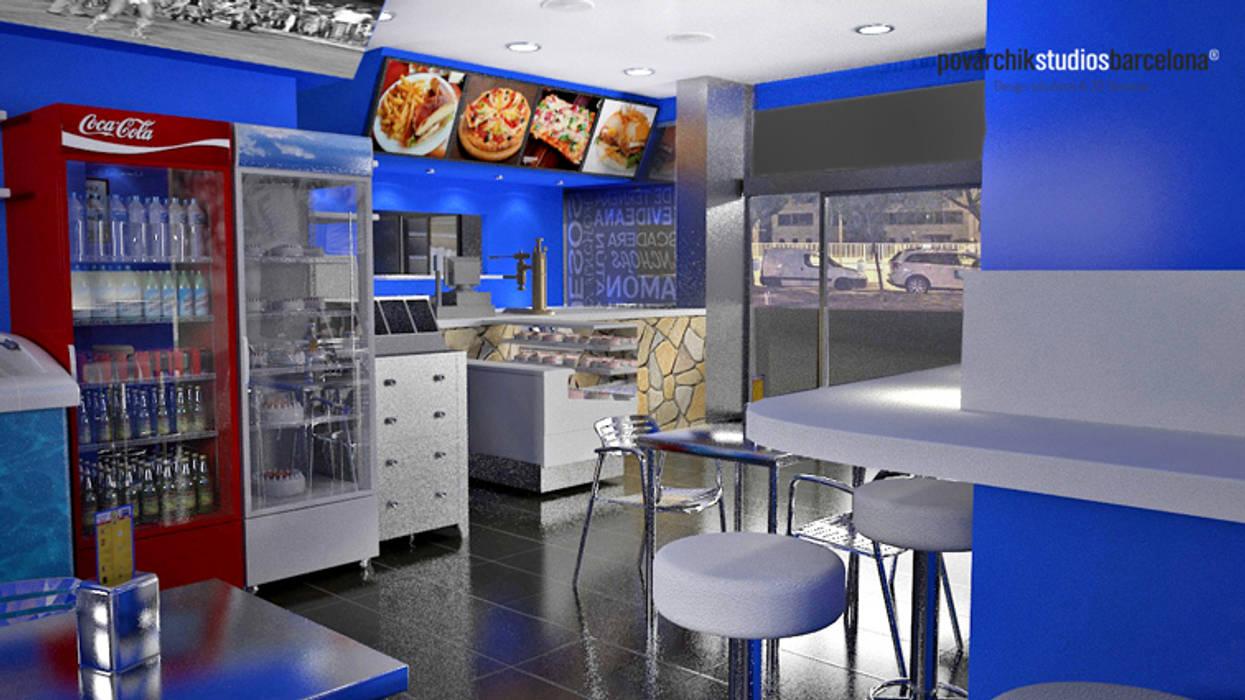Diseño de Resto Bar Gastronomía de estilo moderno de Povarchik Studios Barcelona Moderno