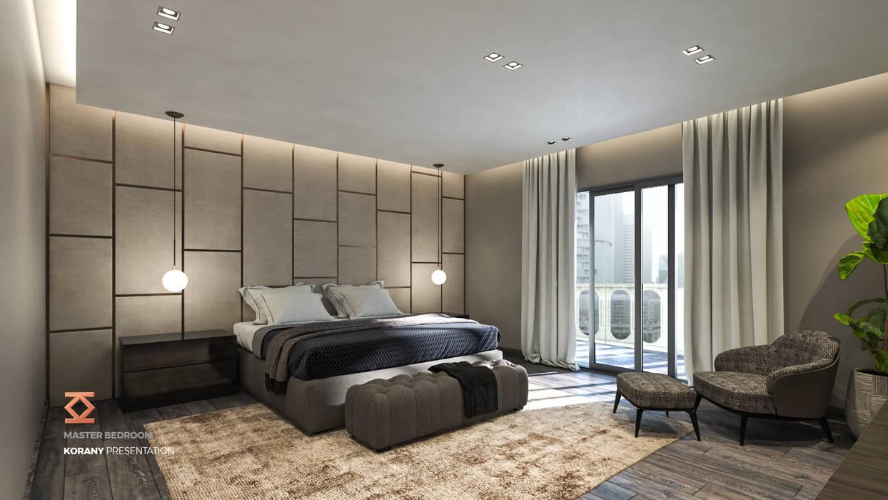 غرفة نوم تنفيذ ICONIC DESIGN STUDIO
