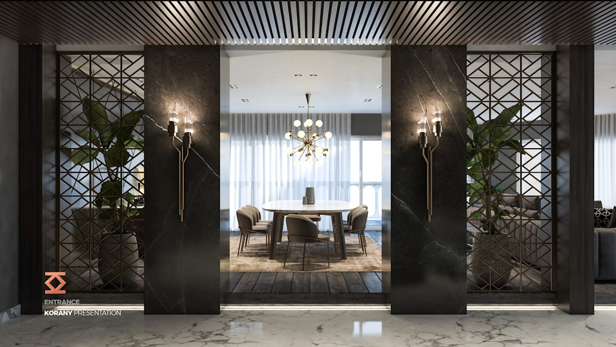 :  غرفة السفرة تنفيذ ICONIC DESIGN STUDIO, حداثي