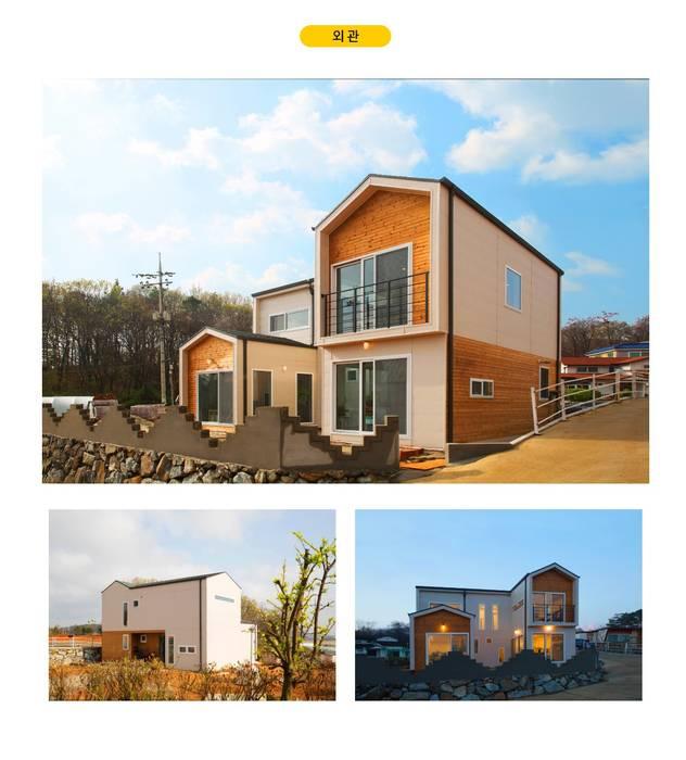 Chalets & maisons en bois de style  par 공간제작소(주), Moderne