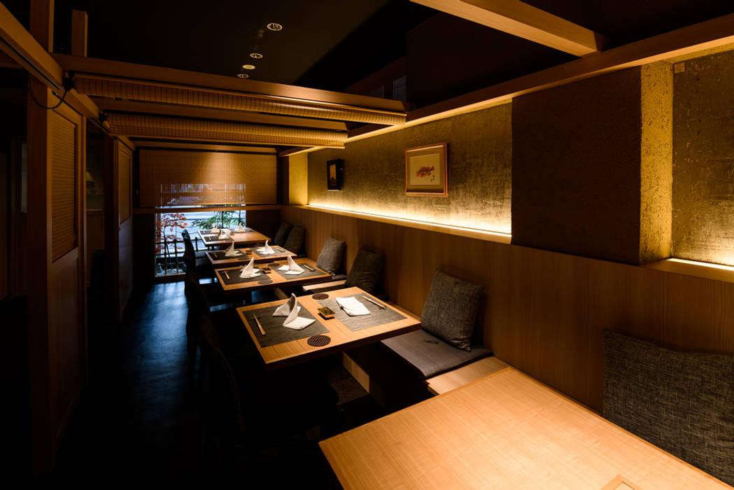 割烹料理店 ライティングデザイン アジア風レストラン の 東京デザインパーティー|照明デザイン 特注照明器具 和風