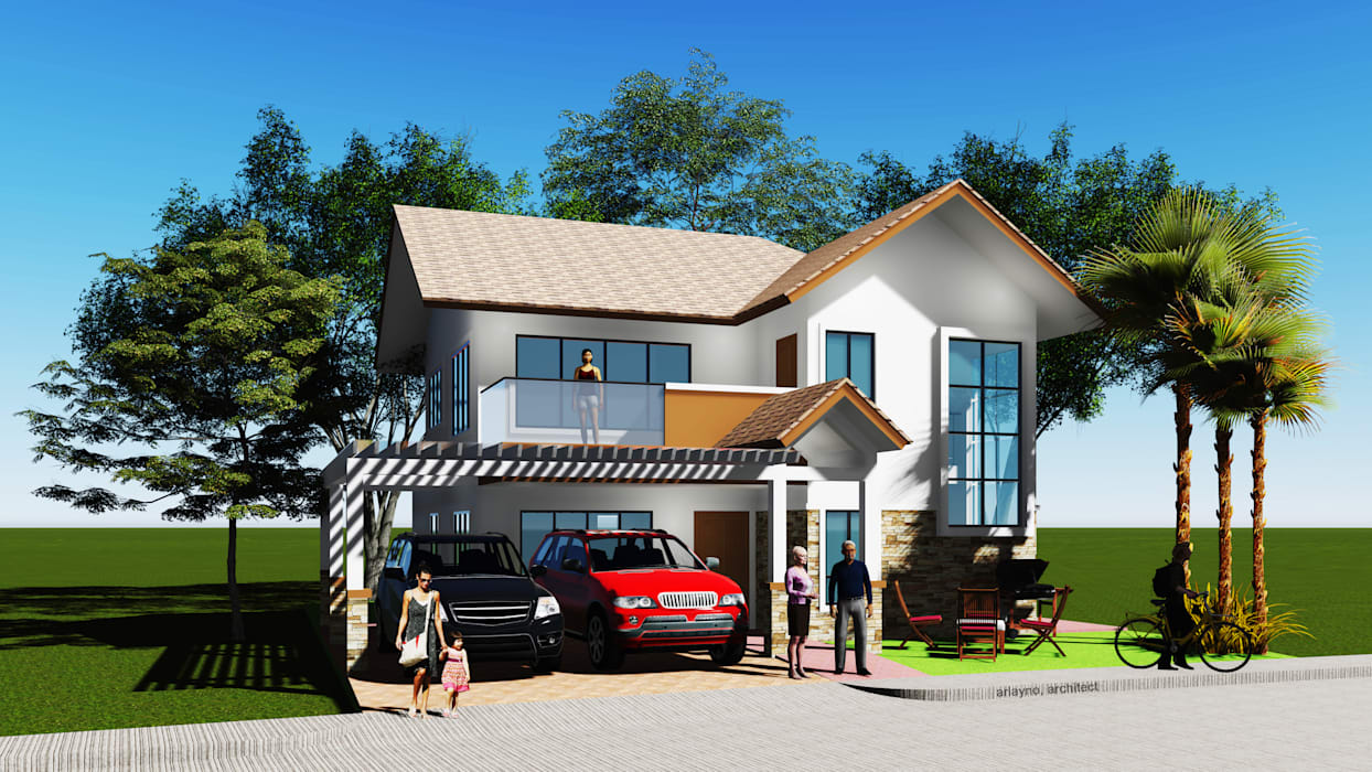 Casas unifamiliares de estilo  por LAarchitecture, Tropical
