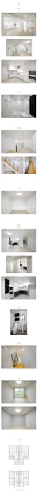 Salas multimedia modernas de 공간제작소(주) Moderno