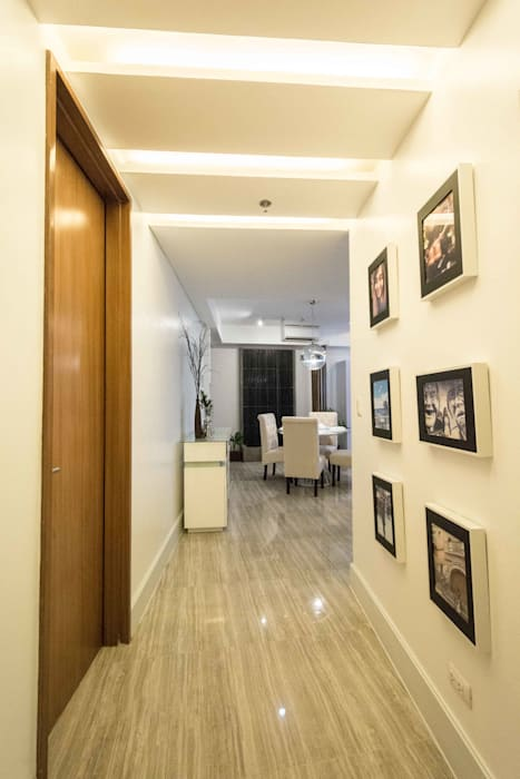 Botanika Nature Residences / Filinvest Group:  Corridor and hallway by TG Designing Corner , Modern