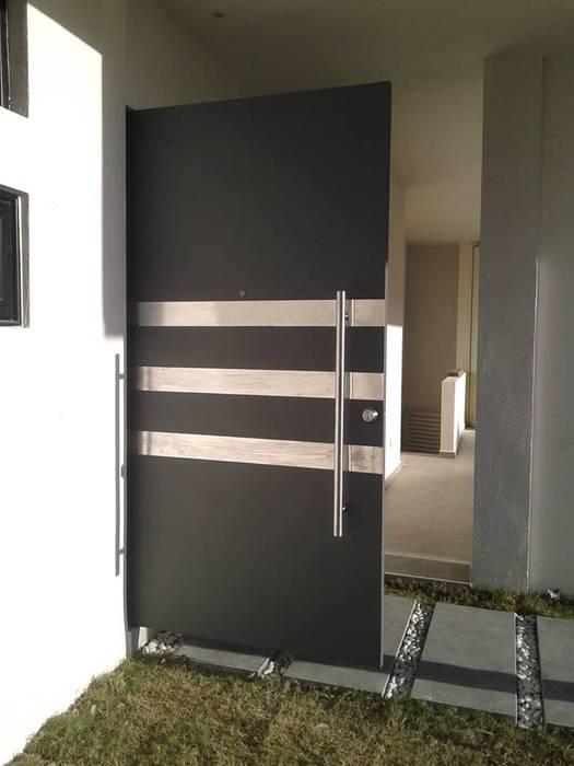 Herrería CHS Puertas de entrada Hierro/Acero Gris