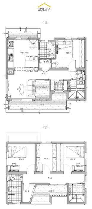 现代客厅設計點子、靈感 & 圖片 根據 공간제작소(주) 現代風 木頭 Wood effect