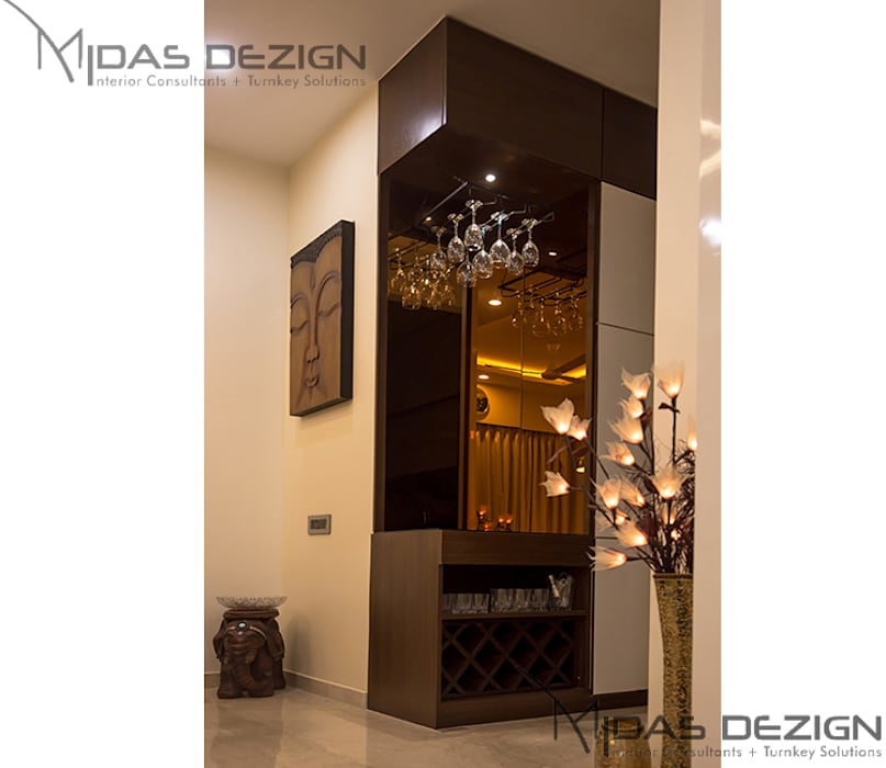 3BHK @ ALTA MONTE MALAD EAST:  Wine cellar by Midas Dezign,Asian