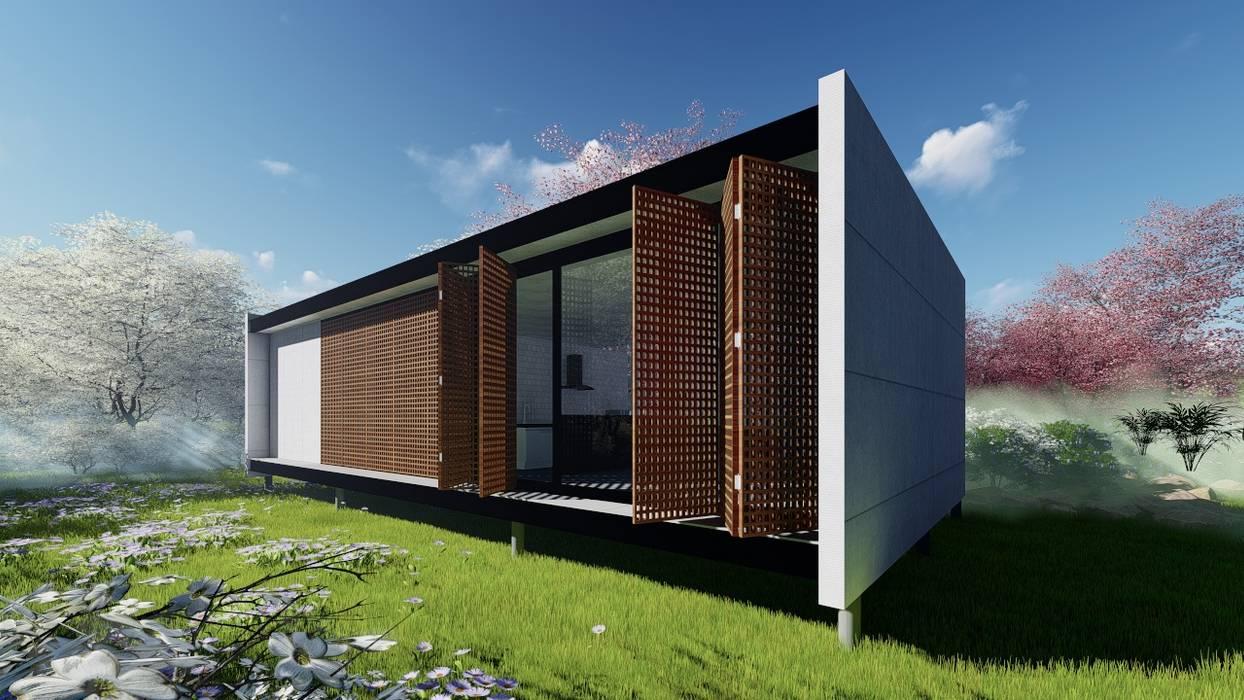 Petites maisons de style  par WA Projeto + Sustentável