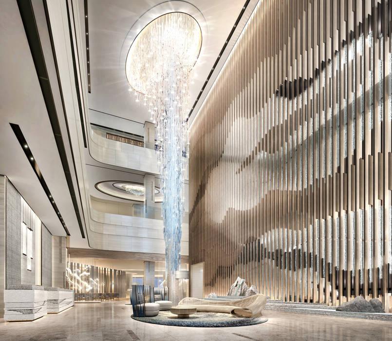 해운대 호텔 로비 스칸디나비아 스타일 호텔 by Metaverse 북유럽
